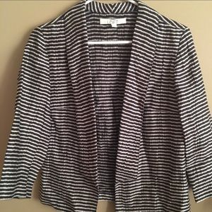 Loft striped navy blazer